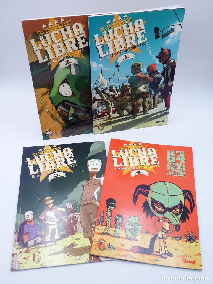 LUCHA LIBRE: THE LUCHADORES FIVE 1 2 3 Y 4. COMPLETA (JERRY FRISSEN) GLENAT, 2008. OFRT ANTES 39,9E (Tebeos y Comics - Glénat - Comic USA)