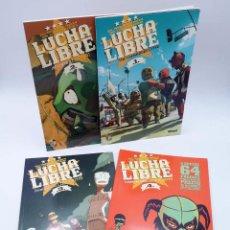 Cómics: LUCHA LIBRE: THE LUCHADORES FIVE 1 2 3 Y 4. COMPLETA (JERRY FRISSEN) GLENAT, 2008. OFRT ANTES 39,9E. Lote 116539435