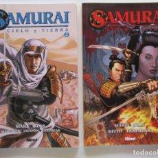 Cómics: SAMURAI CIELO Y TIERRA - COMPLETA 1 Y 2 - MARZ Y ROSS - GLENAT - TAPA BLANDA - MUY BUENO. Lote 118379167