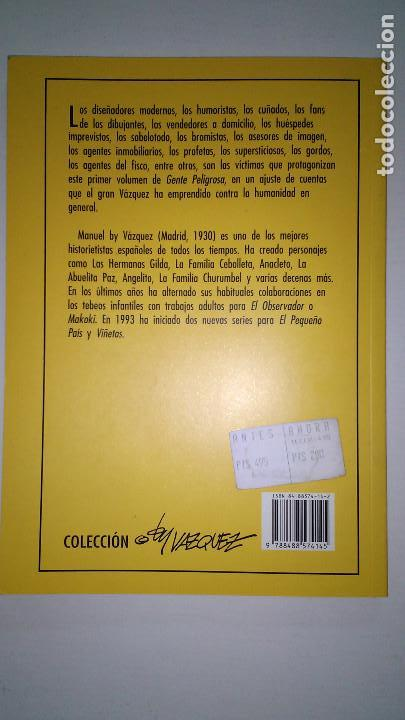 Cómics: * GENTE PELIGROSA * BY VAZQUEZ * EDICIONES GLENAT * 1993 - Foto 3 - 119446755
