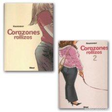 Cómics: CORAZONES ROLLIZOS COMPLETA 2 TOMOS (KRASSINSKY) GLENAT - TAPA DURA - IMPECABLE - OFI15. Lote 134081229