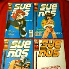 Cómics: SUEÑOS (LOTE 4 COMICS) Nº 8, 11, 12, 18 - EDICIONES GLENAT (1995) PRIMER MANGA ERÓTICO ESPAÑOL . Lote 125226651
