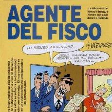 Cómics: AGENTE DEL FISCO (VAZQUEZ) COL. GENIOS DEL HUMOR Nº 2 - GLENAT - IMPECABLE - OFI15T. Lote 204475155