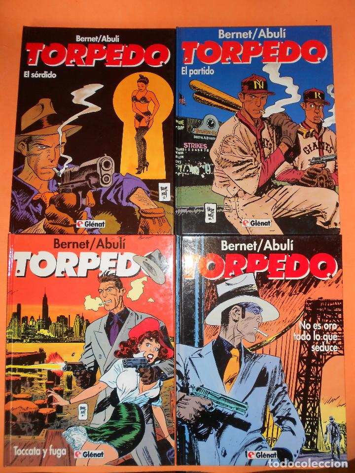 TORPEDO. BERNET & ABULI . TOMOS Nº 9,10, 11 Y 12. TAPA DURA. MUY BUEN ESTADO (Tebeos y Comics - Glénat - Autores Españoles)