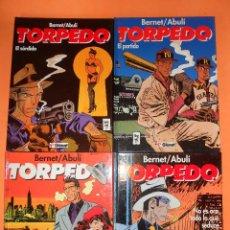 Cómics: TORPEDO. BERNET & ABULI . TOMOS Nº 9,10, 11 Y 12. TAPA DURA. MUY BUEN ESTADO. Lote 127313179