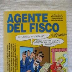 Cómics: AGENTE DEL FISCO BY VÁZQUEZ - COLECCIÓN GENIOS DEL HUMOR Nº 2 (GLÉNTAT). Lote 131793646