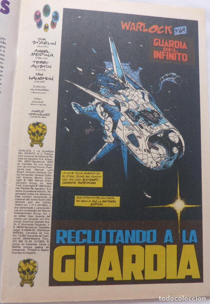 Cómics: Comic Warlock y la Guardia del Infinito,Numero 2,Marvel Comics,1993 - Foto 4 - 138185190
