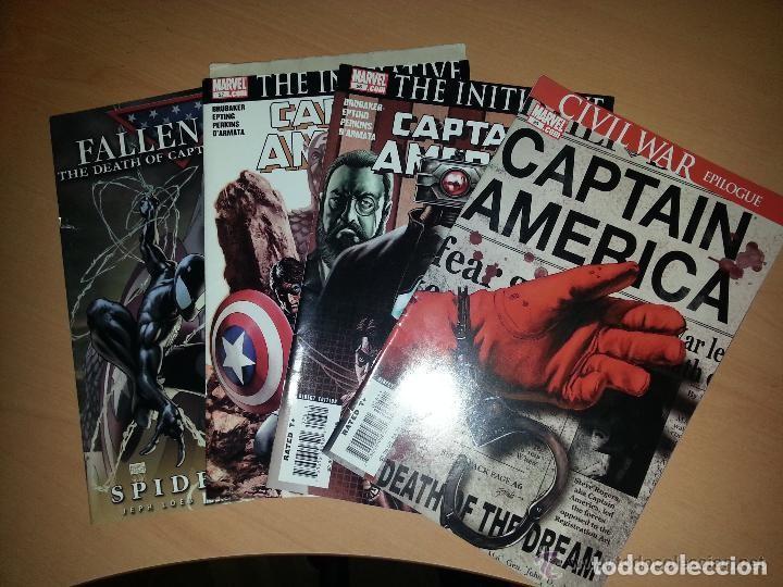 GRAN LOTE DE 3 NÚMEROS ORIGINALES SOBRE LA MUERTE DEL CAPITÁN AMERICA 25-27 IMPORTADOS USA + 1 EXTRA (Tebeos y Comics - Glénat - Comic USA)