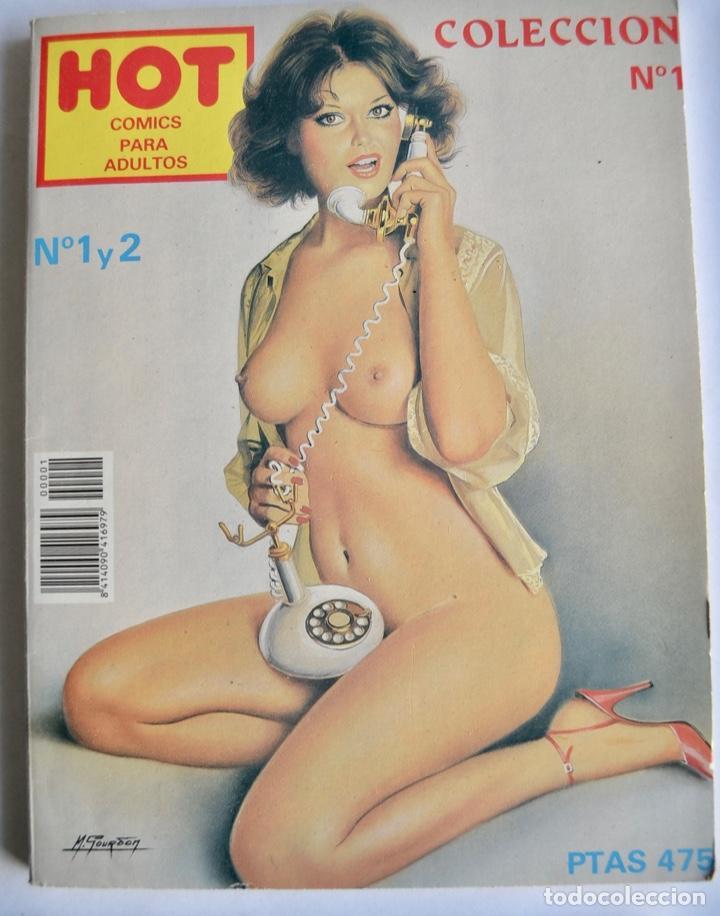 Cómics: Lote de 4 números de HOT. Cómics para Adultos. Carton Cómics, Barcelona. 1994. Cómic Erótico - Foto 2 - 143797094