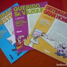 Cómics: CARTAS SOBRE LA MESA VOL. 1, 2 Y 3 COMPLETA ( VAZQUEZ ) ¡MUY BUEN ESTADO! GLENAT 1995. Lote 149100850