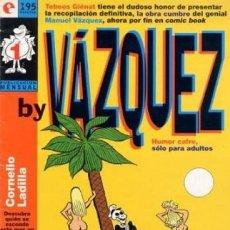 Cómics: BY VAZQUEZ COMPLETA 1 AL 6 - GLENAT - OFSF15 . Lote 151400230
