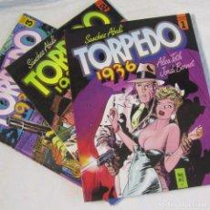 Cómics: 3 NÚMEROS DE TORPEDO 1936 Nº 1 + 2 + 3. Lote 151531646