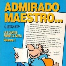 Cómics: VAZQUEZ GENIOS DEL HUMOR LAS CARTAS SOBRE LA MESA COMPLETA + AGENTE DEL FISCO - GLENAT - OFSF15. Lote 151988774