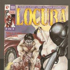 Cómics: LOCURA - Nº 2 DE 6 - LINEA AUTORES ESPAÑOLES - COMIC EROTICO - GLENAT- 1996 -. Lote 155993518