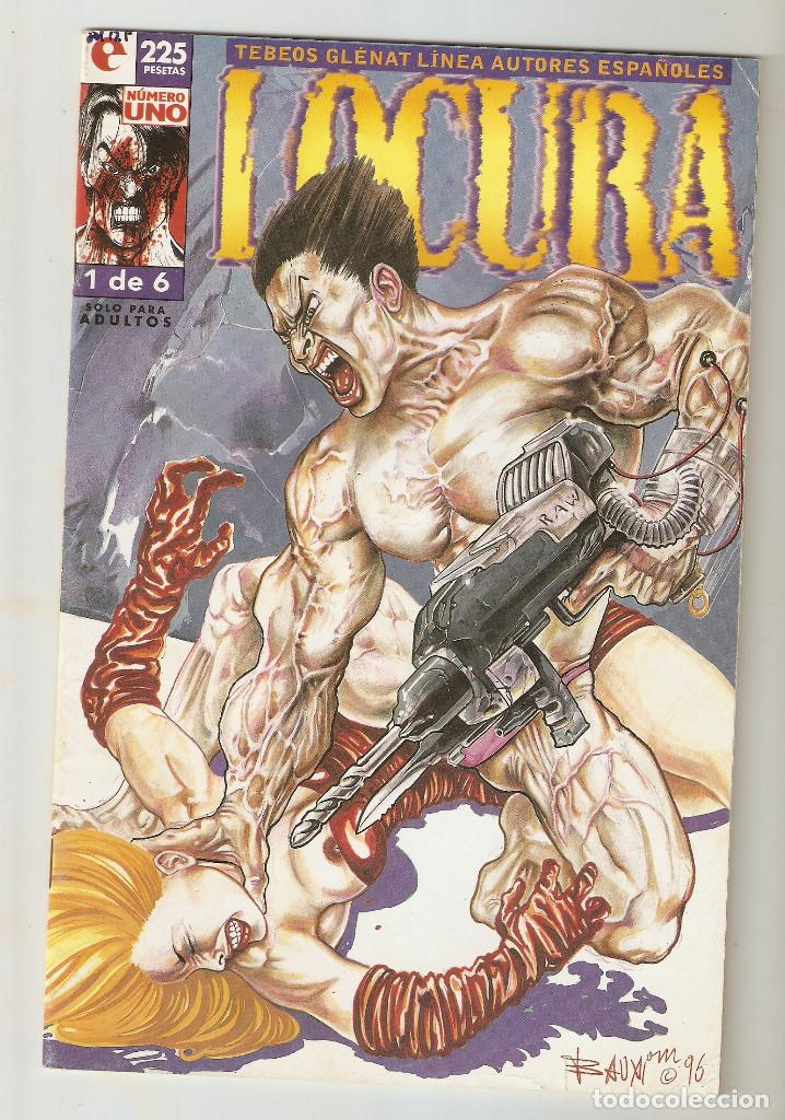 LOCURA - Nº 1 DE 6 - LINEA AUTORES ESPAÑOLES - COMIC EROTICO - GLENAT- 1996 - (Tebeos y Comics - Glénat - Serie Erótica)