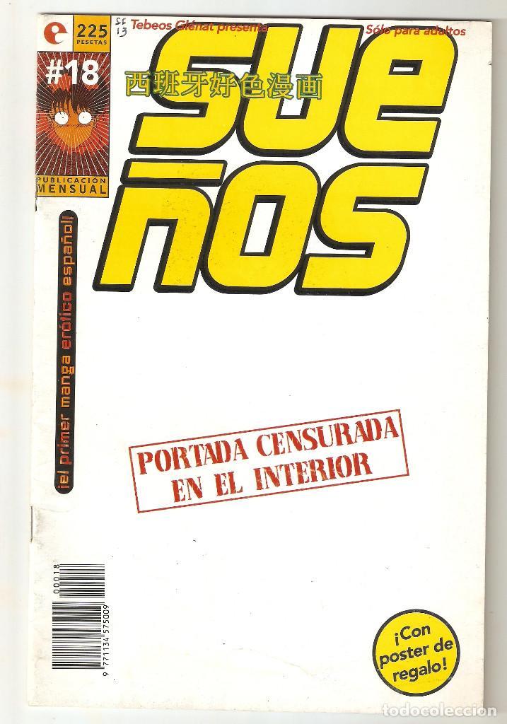 SUEÑOS - Nº 18 - CONTIENE EL POSTER - COMIC EROTICO - GLENAT- 1996 - (Tebeos y Comics - Glénat - Serie Erótica)