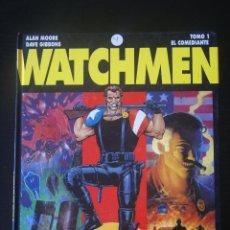 Cómics: WATCHMEN TOMO 1 (DE 3). EL COMEDIANTE. ALAN MOORE & DAVE GIBBONS. GLÉNAT. CARTONÉ / TAPA DURA. Lote 156814254