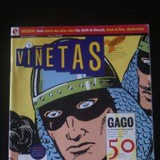 Cómics: VIÑETAS Nº 3. GLÉNAT. GAGO, GUERRERO DEL ANTIFAZ.. Lote 156816966