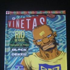 Cómics: VIÑETAS Nº 8. GLÉNAT. TORPEDO, BLACK DEKER, FERNANDO DE FELIPE, F, RIO DE FUEGO.. Lote 156817262