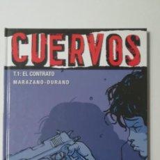 Cómics: CUERVO T1 EL CONTRATO-GLENAT-TAPA DURA. Lote 159839702