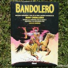 Cómics: BANDOLERO. CARLOS GIMÉNEZ. EDICIONES GLÉNAT, 2002.. Lote 163021502