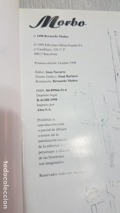 Cómics: MORBO - BERNARDO MUÑOZ - EDICIONES GLÉNAT - 1ª EDCICION - 1998.- COMIC PARA ADULTOS - Foto 2 - 166038394