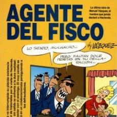 Cómics: AGENTE DEL FISCO (GLÉNAT, 1997) DE MANUEL BY VÁZQUEZ. COLECCIÓN GENIOS DEL HUMOR-2. Lote 166476306