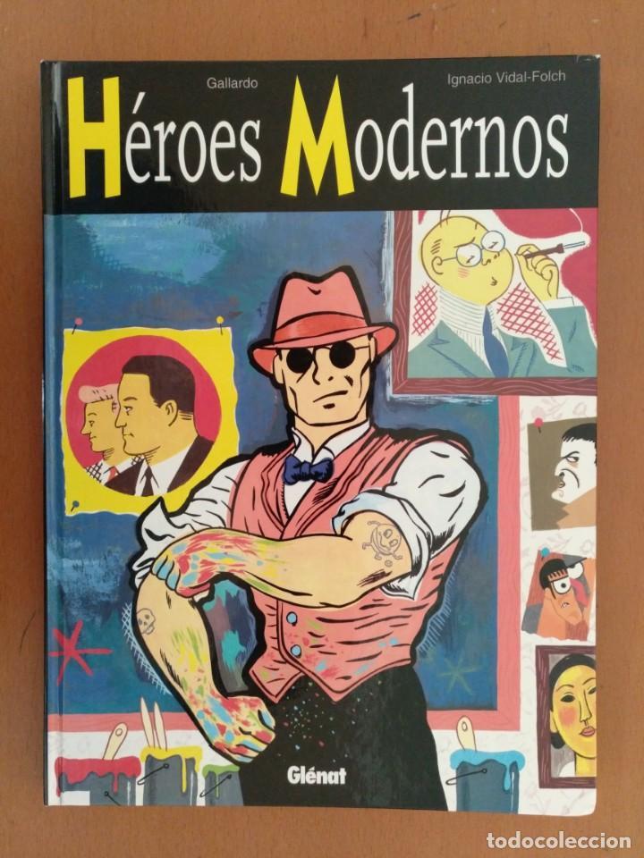 HÉROES MODERNOS, DE GALLARDO Y VIDAL-FOLCH GLÉNAT, 1998 TAPA DURA (Tebeos y Comics - Glénat - Autores Españoles)