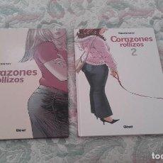 Cómics: CORAZONES ROLLIZOS 1 Y 2 (COMPLETA), DE KRASSINSKY. Lote 171319652