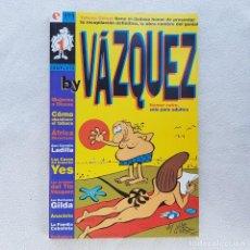 Comics : COLECCIÓN COMPLETA BY VAZQUEZ, TEBEOS GLÉNAT. VINTAGE 1995, NUEVO A ESTRENAR, ANTIGUO STOCK!. Lote 171737930