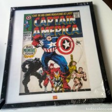 Cómics: CAPTAIN AMERICA MARVEL ENMARCADO. Lote 172057669