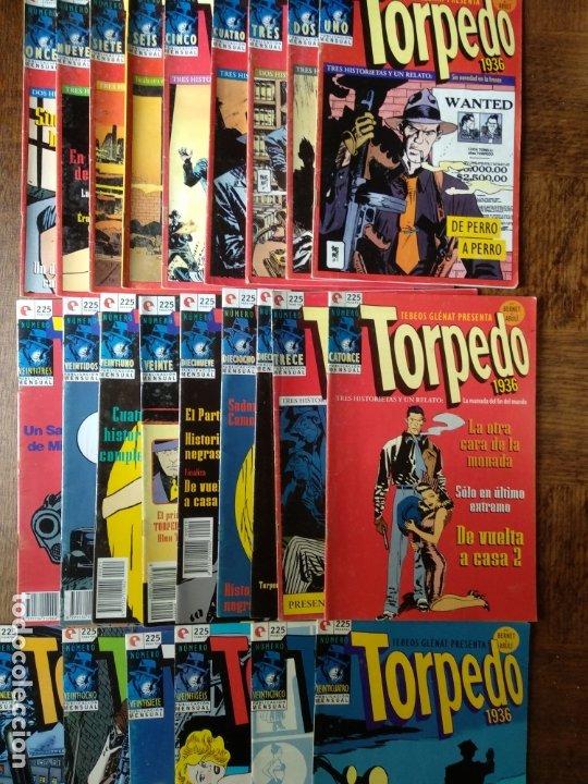 TORPEDO 1936 - LOTE AVANZADO DE 25 NUMEROS - GLENAT - BERNET & ABULI - (Tebeos y Comics - Glénat - Autores Españoles)