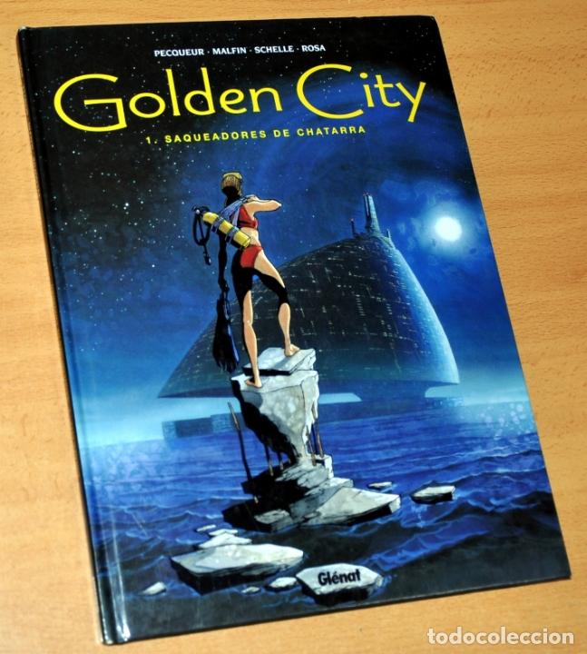 GOLDEN CITY, SAQUEADORES DE CHATARRA - PECOUEUR / MALFIN / SCHELLE / ROSA - EDITORIAL GLÉNAT - 2002 (Tebeos y Comics - Glénat - Autores Españoles)