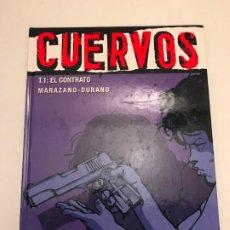 Fumetti: VIÑETAS NEGRAS Nº 3. CUERVOS 1. EL CONTRATO. GLENAT 2005. Lote 175264469