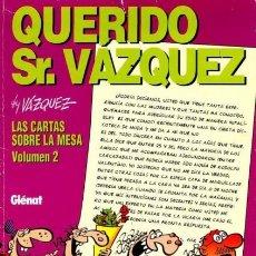 Cómics: GENIOS DEL HUMOR Nº 4 QUERIDO SR. VAZQUEZ (VAZQUEZ) GLENAT - MUY BUEN ESTADO. Lote 244808945