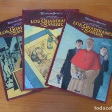 Cómics: EL TRIANGULO SECRETO LOS GUARDIANES DE LA SANGRE - COMPLETA - 3 TOMOS TAPA DURA - GLENAT (M). Lote 176739252