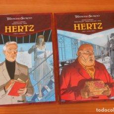 Cómics: EL TRIANGULO SECRETO HERTZ - COMPLETA - 2 TOMOS TAPA DURA - DIDIER CONVARD - GLENAT (N). Lote 176740098