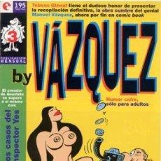 Cómics: BY VAZQUEZ Nº 3 - GLENAT - MUY BUEN ESTADO - OFM15. Lote 176921750