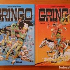 Cómics: GRINGO - COMPLETA - LIBRO 1 Y 2 - TAPA DURA - CARLOS GIMENEZ - GLENAT (BG). Lote 176997742