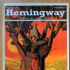 Cómics: HEMINGWAY - MUERTE DE UN LEOPARDO - JEAN DUFAUX, MARC MALÉS. Lote 179191271