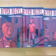 Cómics: RED RIVER HOTEL COMPLETA - 3 TOMOS TAPA DURA - CORNETTE - CONSTANT - GLENAT (CB). Lote 179258000