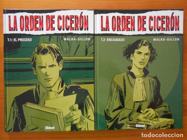 LA ORDEN DE CICERON COMPLETA - 2 TOMOS TAPA DURA - MALKA - GILLON - GLENAT (CB) (Tebeos y Comics - Glénat - Comic USA)