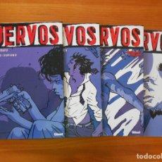 Cómics: CUERVOS COMPLETA - 4 TOMOS TAPA DURA - MARAZANO - DURAND - GLENAT (S). Lote 179298301