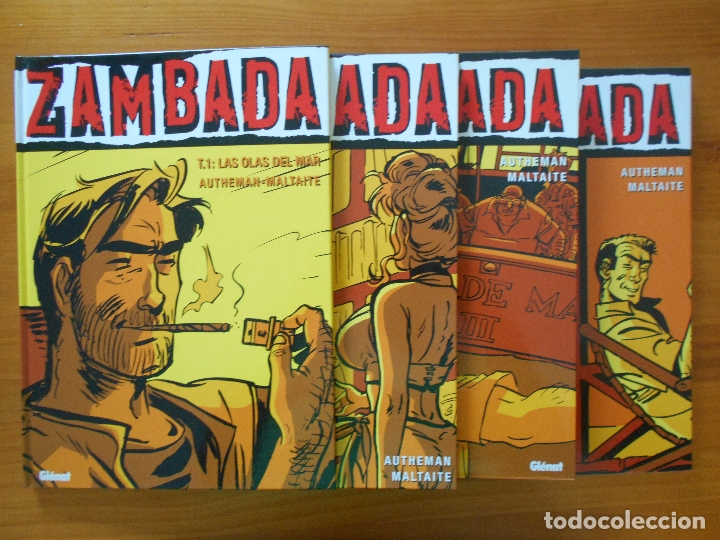 ZAMBADA COMPLETA - 4 TOMOS TAPA DURA - AUTHEMAN - MALTAITE - GLENAT (S) (Tebeos y Comics - Glénat - Comic USA)