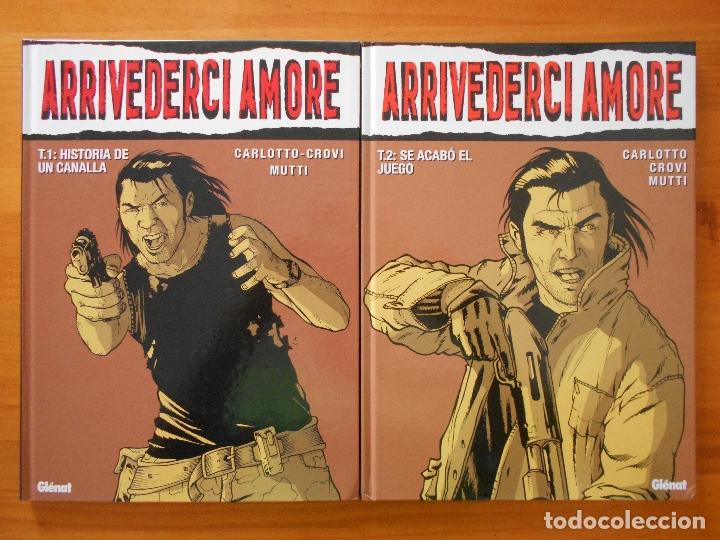 ARRIVEDERCI AMORE COMPLETA - 2 TOMOS TAPA DURA - CARLOTTO-CROVI - MUTTI - GLENAT (S) (Tebeos y Comics - Glénat - Comic USA)