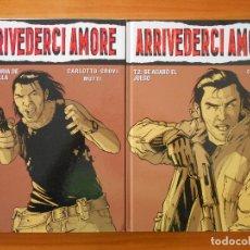 Cómics: ARRIVEDERCI AMORE COMPLETA - 2 TOMOS TAPA DURA - CARLOTTO-CROVI - MUTTI - GLENAT (S). Lote 179310136