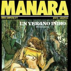Cómics: MANARA. UN VERANO INDIO 1 (ERÓTICO) V. Lote 182903940