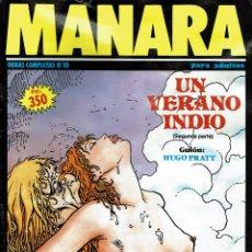 Cómics: MANARA. UN VERANO INDIO 2 (ERÓTICO) V. Lote 182903968