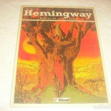 Cómics: HEMINGWAY . MUERTE DE UN LEOPARDO , JEAN DUFAUX . MARC MALES.. Lote 183496343
