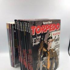Cómics: TORPEDO COLECCIONES ABULI Y TORELLI COMPLETAS 8 Y 4 TOMOS , 10 TOMOS GLENAT TAPA DURA. Lote 184013663